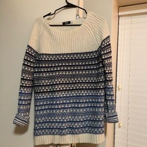 Cream and blue Urban Outfitters sweater. BDG.